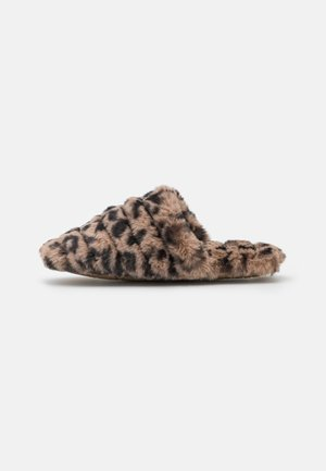 QUILTED SCUFF LEOPARD - Pantoffels - castle brown/multi-coloured