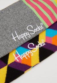 Happy Socks - OPTIC SQUARE/STRIPE AND DOT 2 PACK - Socks - multi - 2