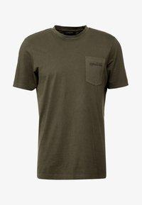 Scotch & Soda - CLASSIC GARMENT DYED CREWNECK TEE - T-shirt - bas - military - 3