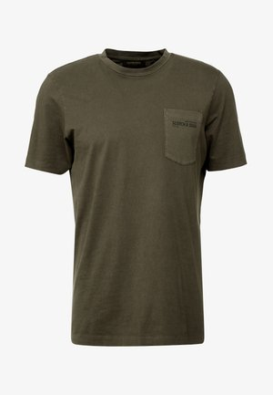 CLASSIC GARMENT DYED CREWNECK TEE - T-shirt - bas - military