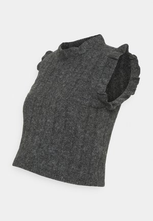 MLSAVANNAH CROP - Jumper - dark grey melange