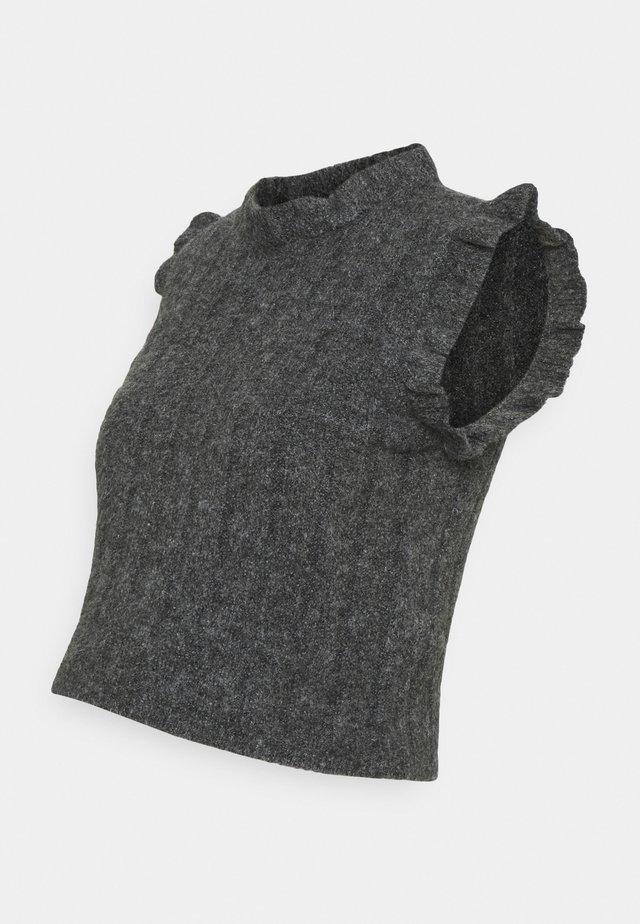 MLSAVANNAH CROP - Strikpullover /Striktrøjer - dark grey melange