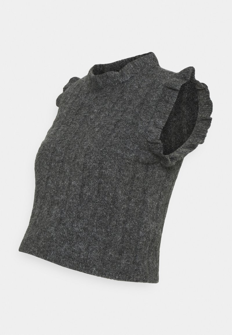 MAMALICIOUS - MLSAVANNAH CROP - Jumper - dark grey melange
