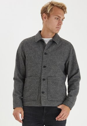 JACOB BLEND HOUNDSTOOTH  - Light jacket - anthracite black