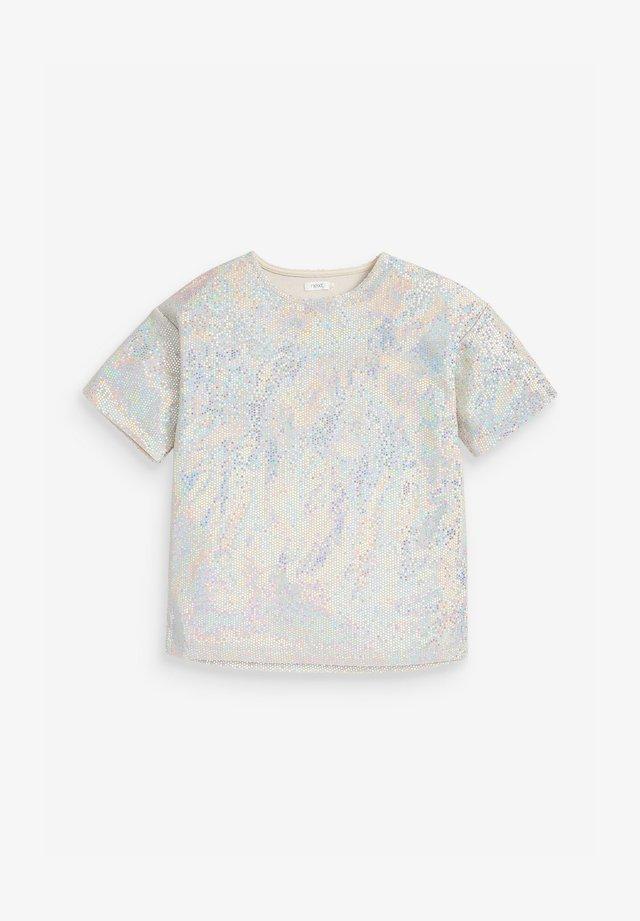 DISCO  - T-shirt print - silver