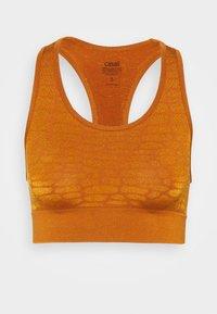 Casall - SHINY ALLIGATOR  - Reggiseno sportivo con sostegno leggero - hazel brown - 0