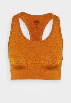 SHINY ALLIGATOR  - Light support sports bra - hazel brown