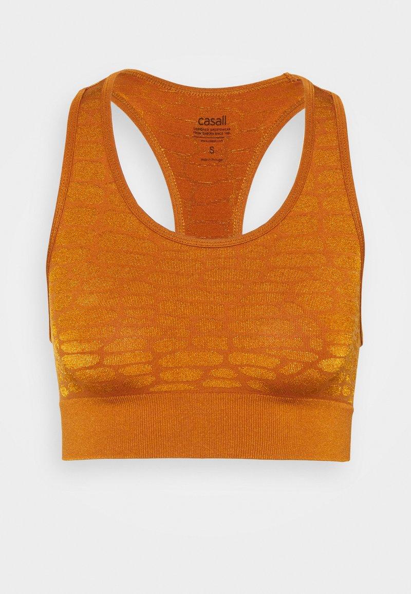 Casall - SHINY ALLIGATOR  - Reggiseno sportivo con sostegno leggero - hazel brown