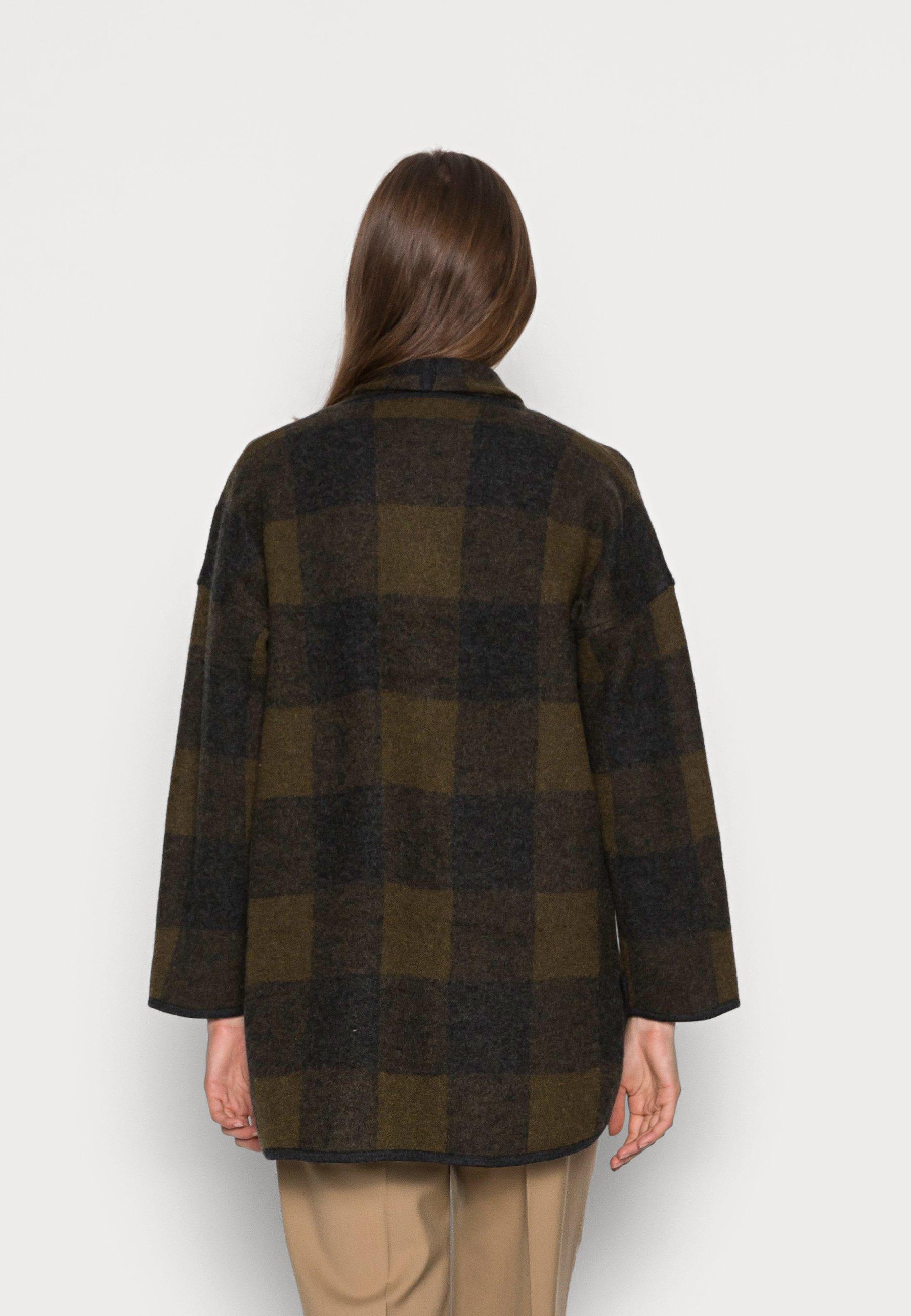 Damen PLAID COAT DIRECT EXCLUSIVE - Strickjacke