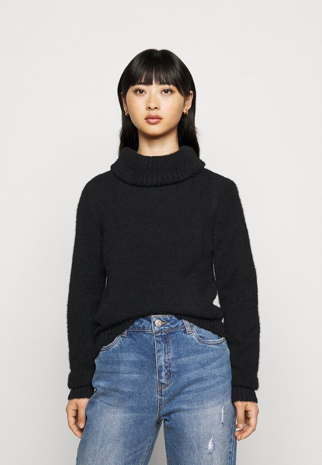 VIFEAMI ROLLNECK TOP - Pullover - black