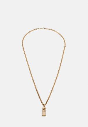 CURB MERGE NECKLACE - Náhrdelník - gold-coloured