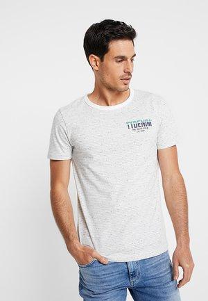 Print T-shirt - off white melange
