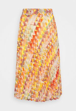 SKIRT MIDI - Áčková sukně - rose peach multicolor