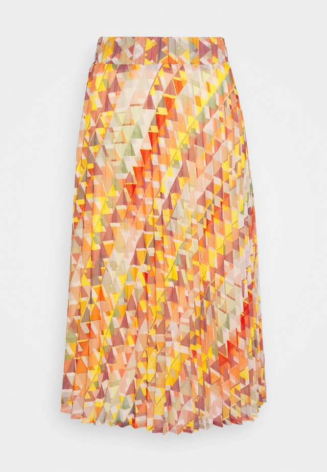SKIRT MIDI - Gonna a campana - rose peach multicolor