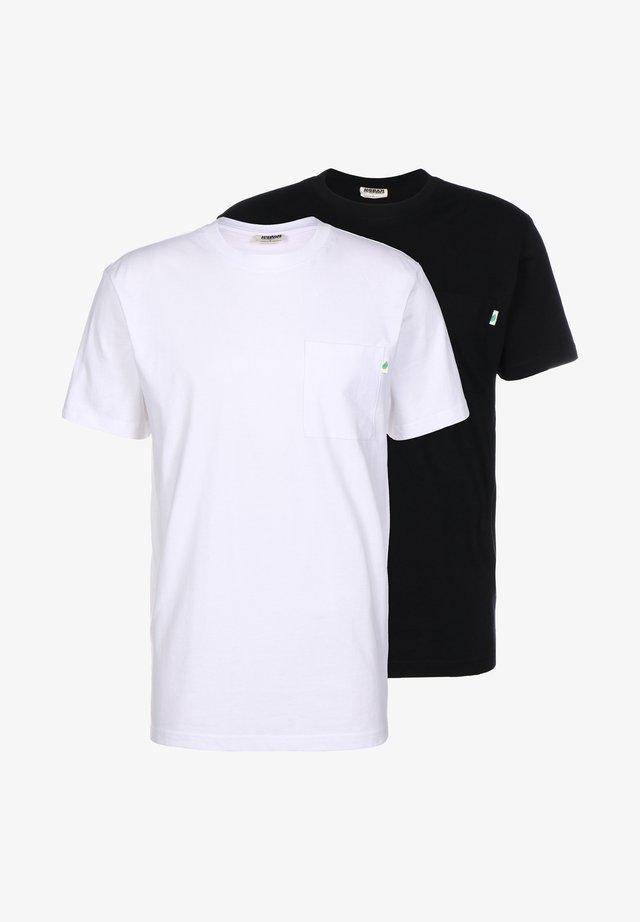 2 Pack - T-shirt basic - white / black