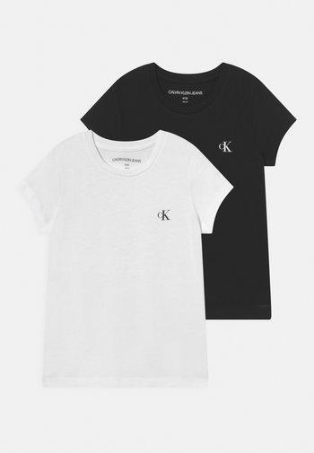 SLIM MONOGRAM 2 PACK - Basic T-shirt - white/black