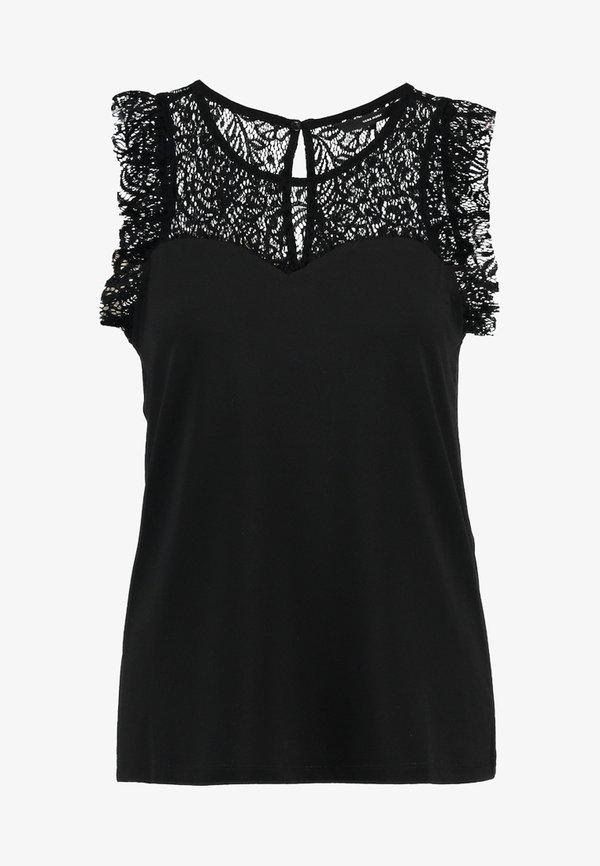 Vero Moda VMALBERTA SWEETHEART - Bluzka - black/czarny JPUH