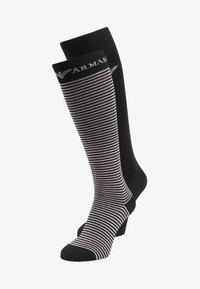 Emporio Armani - LONG 2 PACK - Knee high socks - black - 0