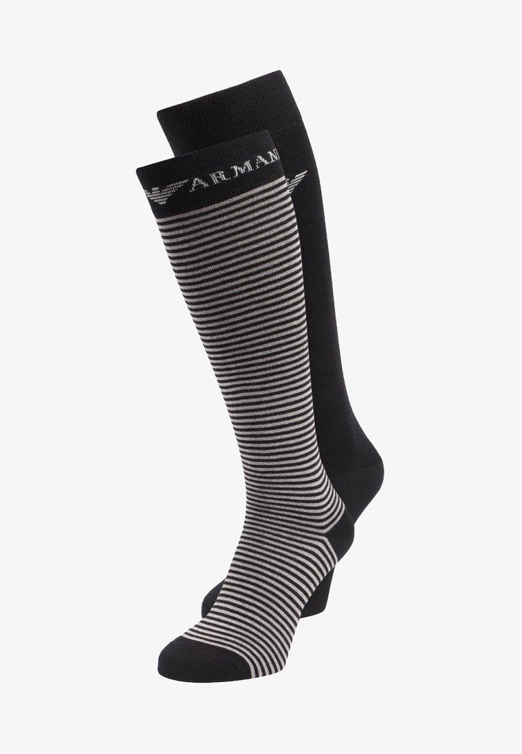 Emporio Armani - LONG 2 PACK - Knee high socks - black