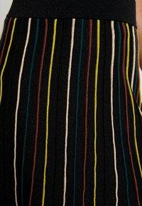 King Louie - STRIPE SKIRT GLITTER STRIPE - A-snit nederdel/ A-formede nederdele - black - 5