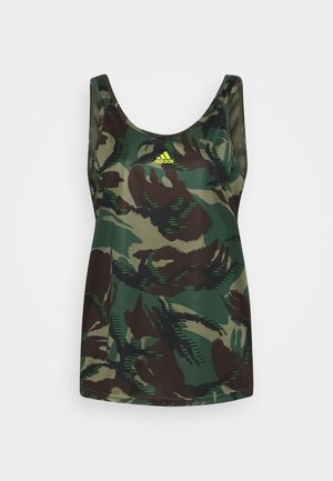CAMO - T-shirt de sport - green oxide/acid yellow