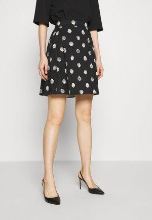 DISCORSO - Spódnica trapezowa - black pattern