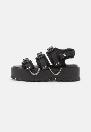 VEGAN CASCADIA CHAIN MATRIX  - Platform sandals - black