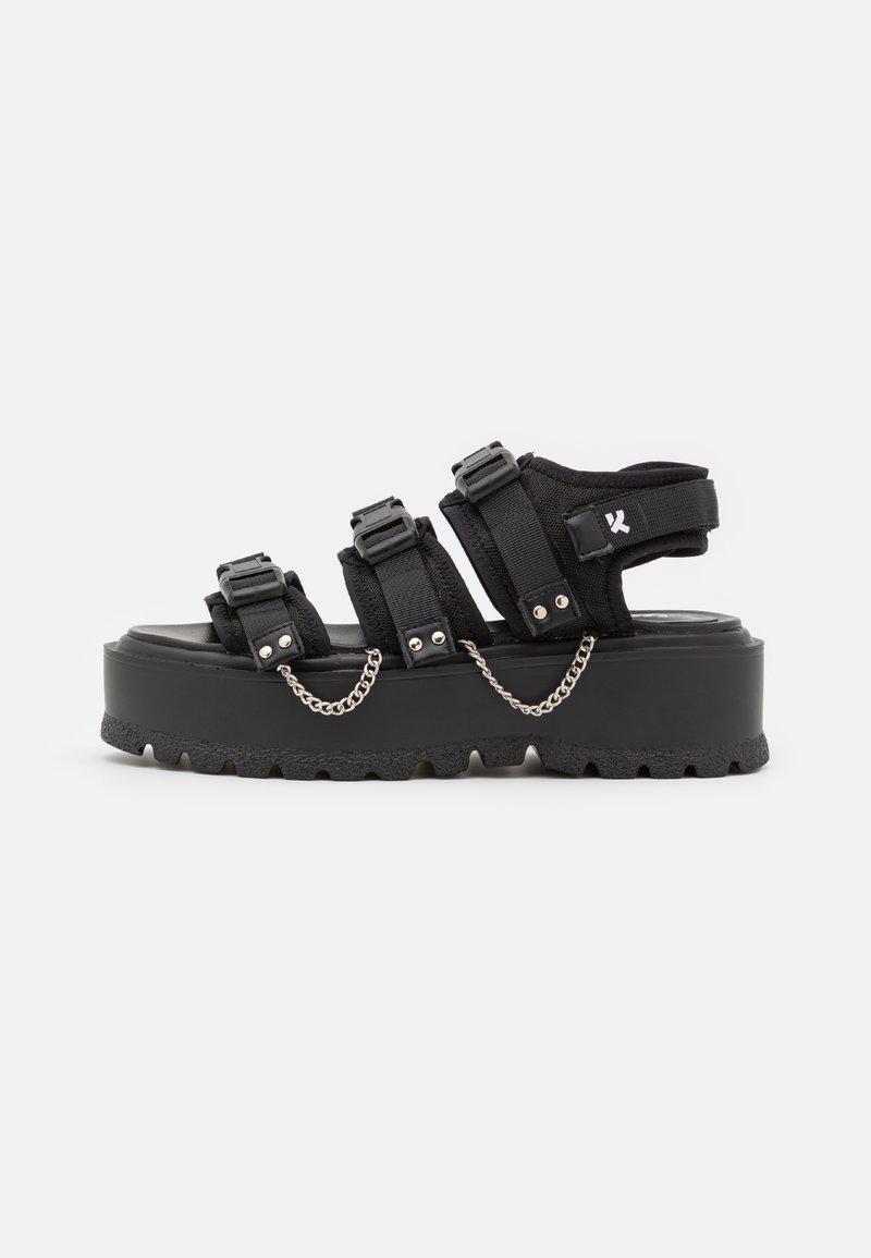 Koi Footwear - VEGAN CASCADIA CHAIN MATRIX  - Platform sandals - black