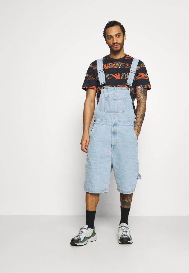 ORIGINALS DUNGAREE - Shorts - light blue
