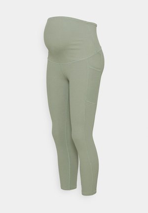 MATERNITY POCKET - Tights - basil green