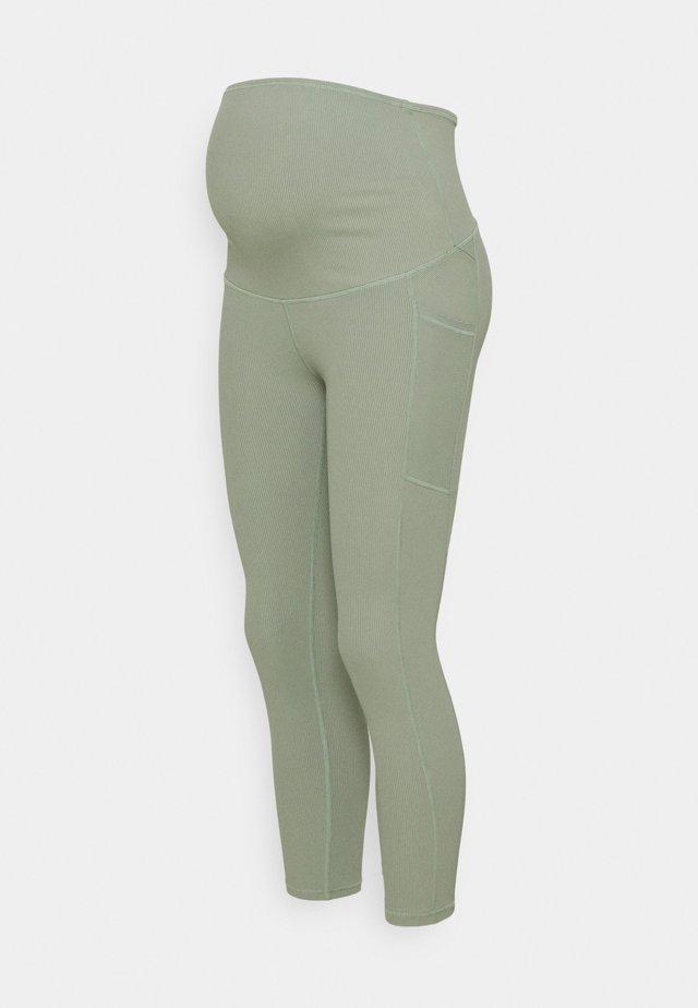 MATERNITY POCKET - Tights - basil green