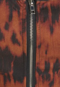 Missguided - ZIP FRONT CORSET CROP  - Topper - brown - 2