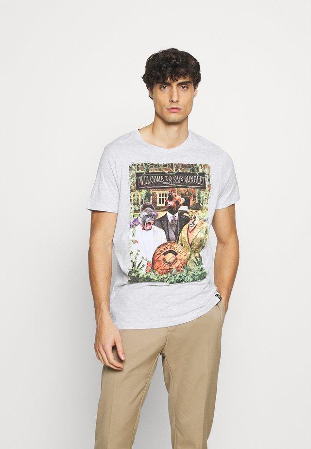 JEEVES - T-shirt z nadrukiem - ecru marl