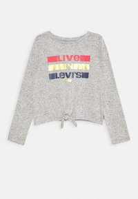 Levi's® - TIE FRONT - Strickpullover - light gray heather - 0