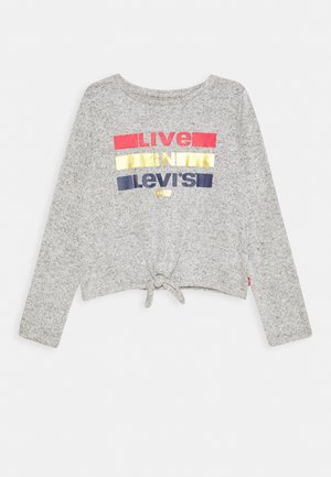TIE FRONT - Strickpullover - light gray heather