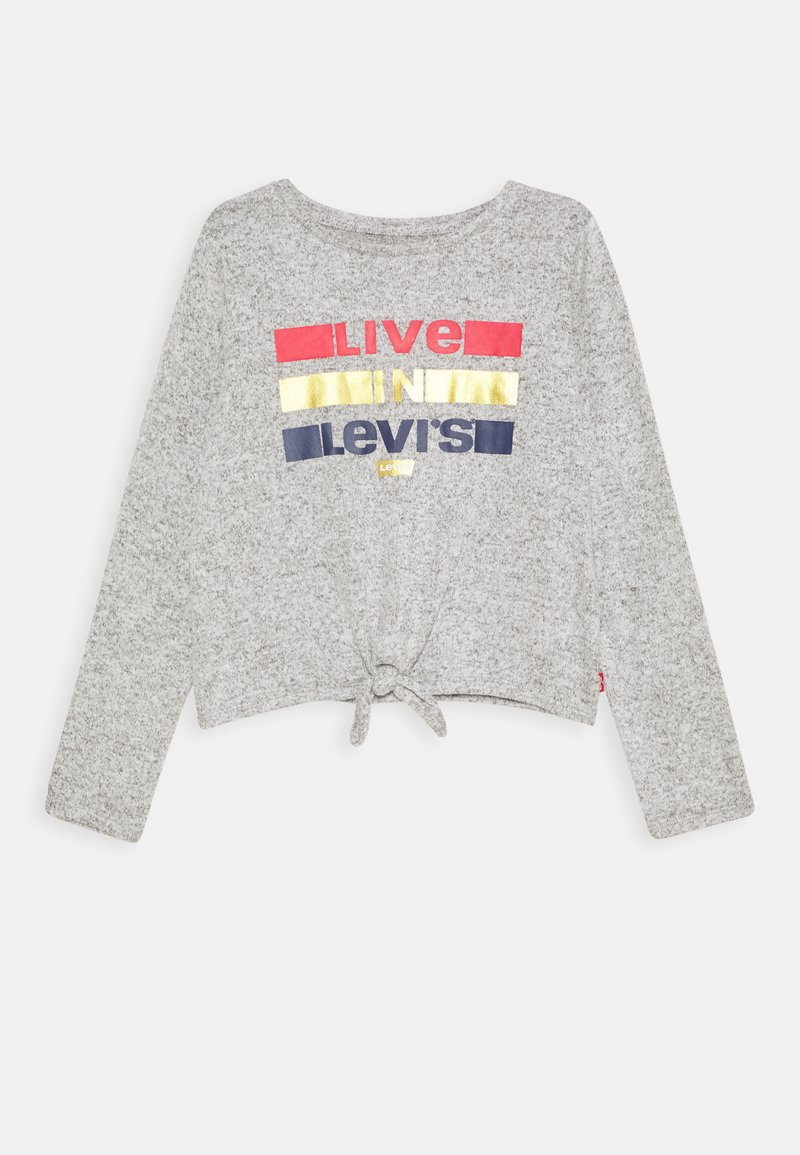 Levi's® - TIE FRONT - Strickpullover - light gray heather