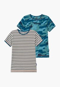 Claesen's - BOYS 2 PACK - Undershirt - dark blue/turquoise/mint - 0