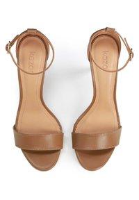 Kazar - MEGAN  - Sandály na vysokém podpatku - brown - 3
