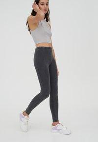 PULL&BEAR - Leggings - Trousers - dark grey - 3