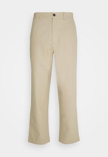 HAWTIN CROP HOPSACK - Pantaloni - sandstone