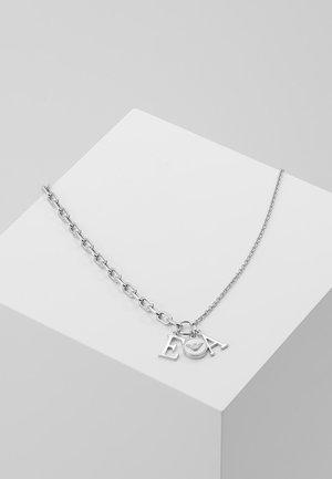 Naszyjnik - silver-coloured