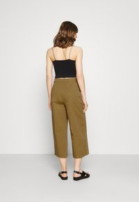 Even&Odd - Wide cropped leg Chino - Trousers - camel - 2