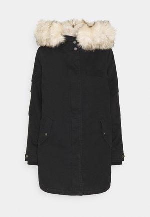 ONLMAY LIFE FUR - Abrigo de invierno - black