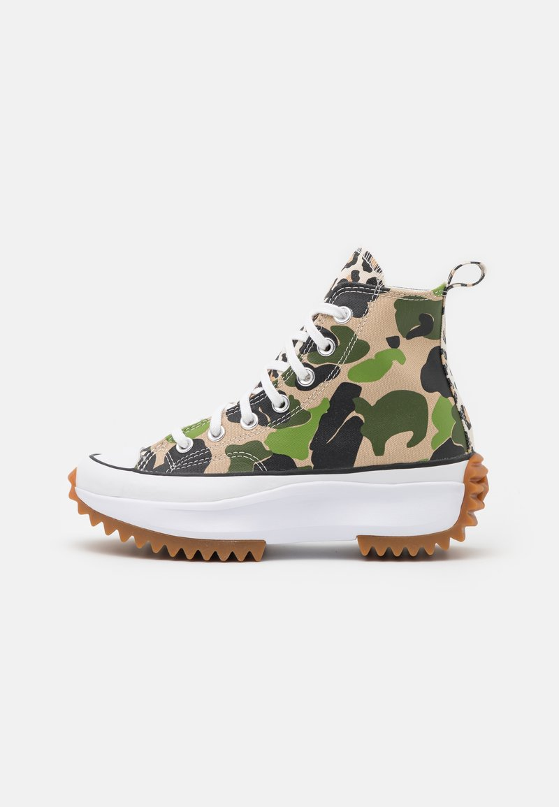 Converse - RUN STAR HIKE ARCHIVE GONE WILD UNISEX - Sneakers hoog - candied ginger/piquant green/white