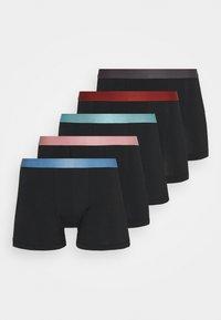 5 PACK - Pants - black/dark grey/red