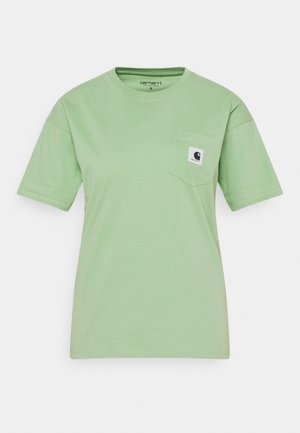 POCKET - T-shirts med print - mineral green