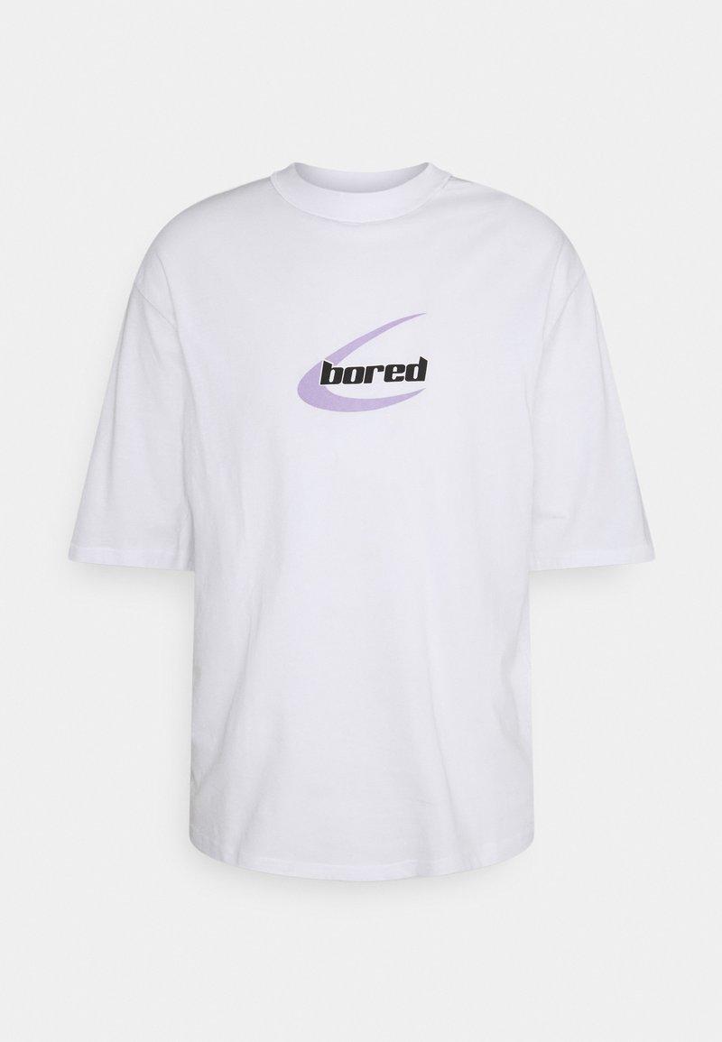 YOURTURN - OVERSIZED FIT UNISEX - T-shirt med print - white