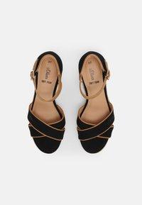 s.Oliver - Platform sandals - black - 4