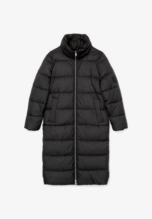 LONG PUFFER COAT - Winterjacke - black