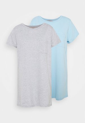 2 PACK - Camicia da notte - dark grey/dark blue